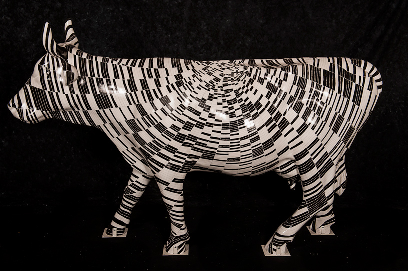 Binary Bovine by Heather Gordon, Cow Parade NC