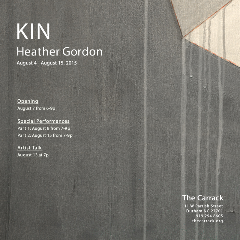 Heather Gordon solo exhibition KIN at The Carrack