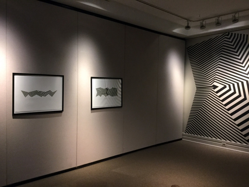 drawings and masking tape installation