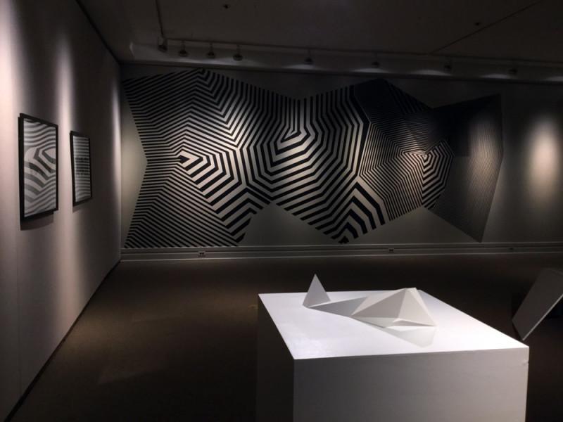 heather gordon, model and masking tape installation