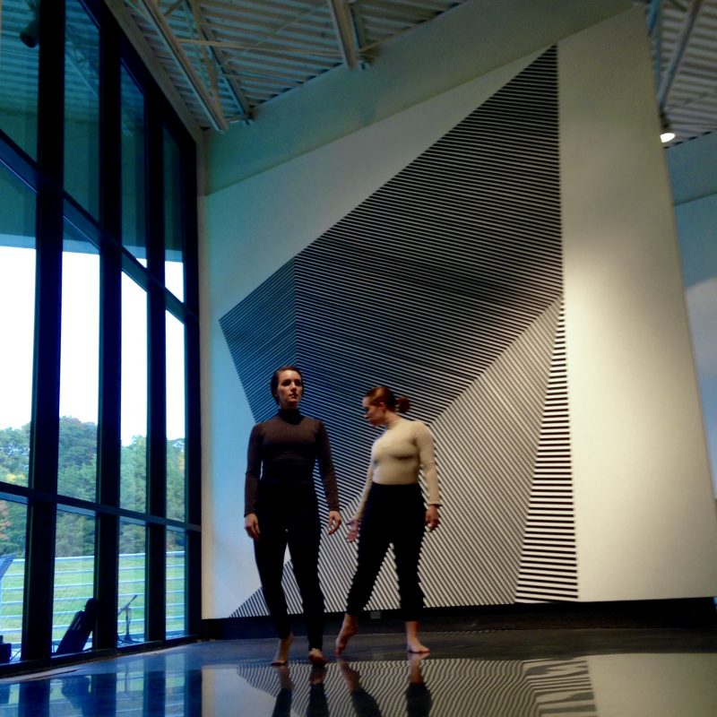 """Performance of """"Value of Words"""", a collaborative project with Justin Tornow and COMPANY dancers. Pictured: Samantha Steffan (left) and Amy Blakely"""